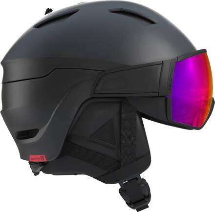 Salomon Casque Salomon Driver Visor - Lens de ski (Noir/Rouge)
