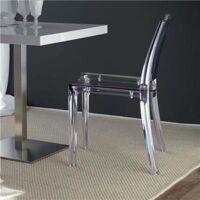 NOUVOMEUBLE Chaise moderne transparente GWENDOLINE (lot de 4) <br /><b>820.58 EUR</b> NOUVOMEUBLE