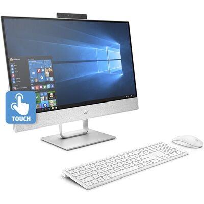 Hewlett Packard Tout-en-un HP Pavillon 24-x040nf - Blanc glacial Tout-en-un + Casque stéréo