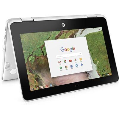 Hewlett Packard HP Chromebook x360 11-ae101nf - Blanc neige