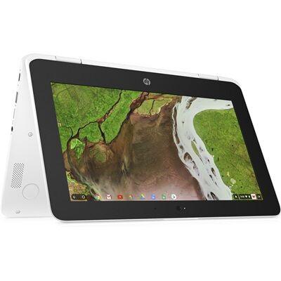Hewlett Packard HP Chromebook x360 11-ae107nf - Blanc neige avec la souris sans fil HP Z3700 à moitié prix !
