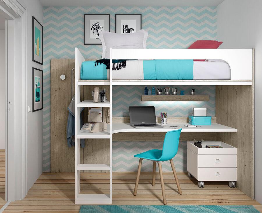 Ros Lit mezzanine avec bureau