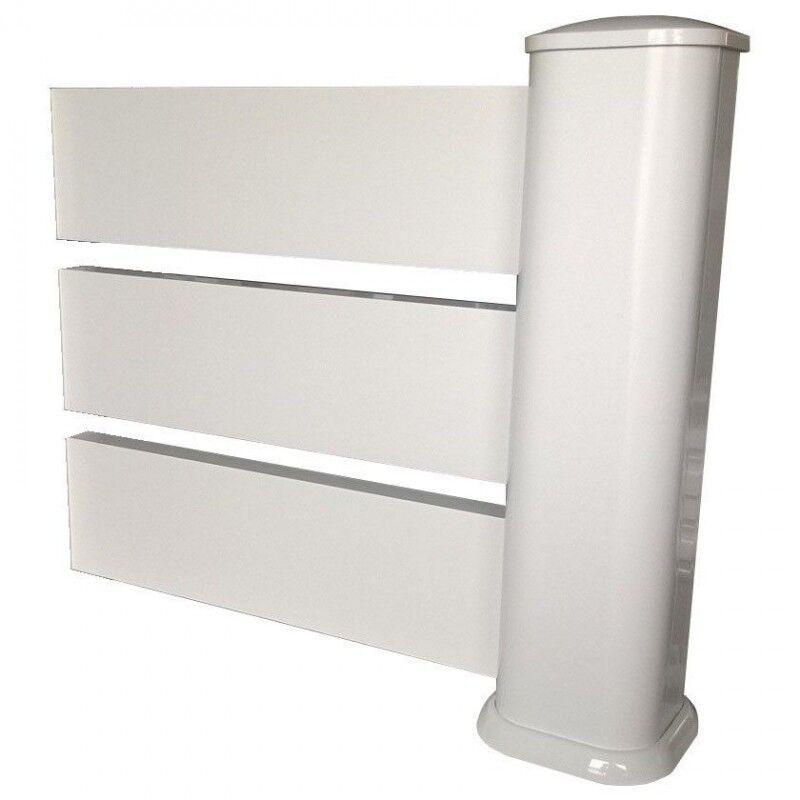Kit INTERMEDIAIRE clôture pare-vue en PVC (Système de pose : Avec deux tubes à sceller (scellement de 15cm), Hauteur Clôture : 1,10m soit 9 lames)