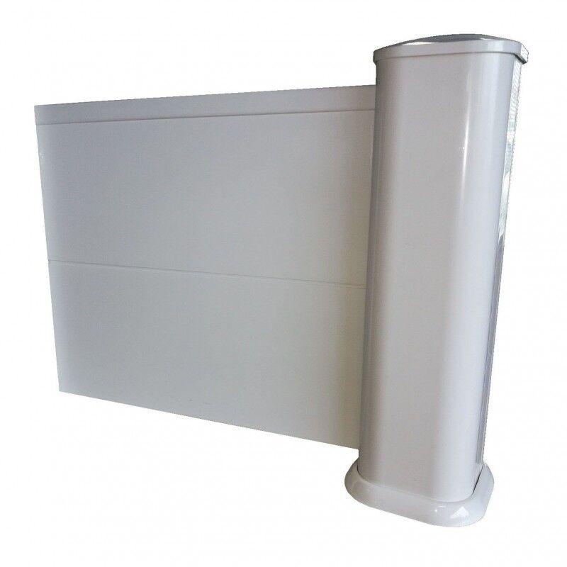 Kit INTERMEDIAIRE clôture pleine en PVC (Système de pose : Avec deux tubes à sceller (scellement de 15cm), Hauteur Clôture : 1,848m soit 12 lames)