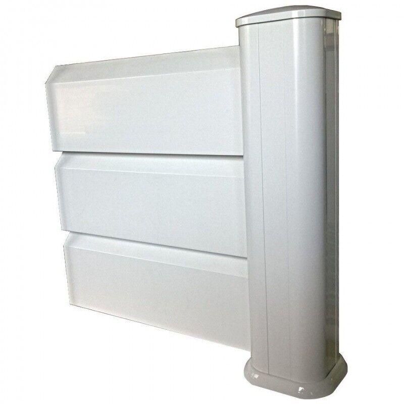 Kit INTERMEDIAIRE en PVC brise-vue (Système de pose : Avec deux tubes à sceller (scellement de 15cm), Hauteur Clôture : 0,424m soit 3 lames)