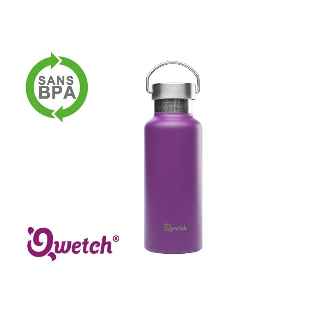 Qwetch Gourde isotherme inox Qwetch 500ml - Violette