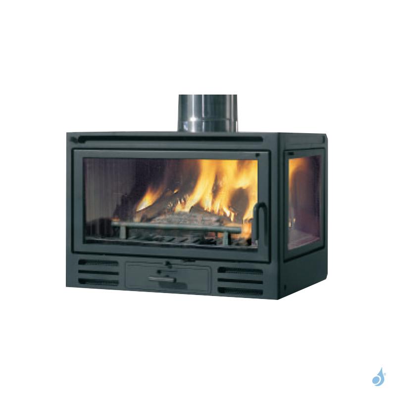 EDILKAMIN Firebox Riga 49 SX Insert à bois avec vitre latérale à droite 9,6kW A+