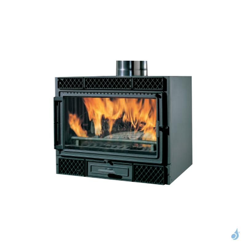 EDILKAMIN Firebox Deco 54 Insert à bois avec vitre frontale 9,6kW A+
