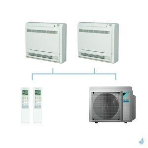DAIKIN climatisation bi split console double flux gaz R32 FVXM-F 6kW FVXM25F + FVXM50F + 3MXM68N A++