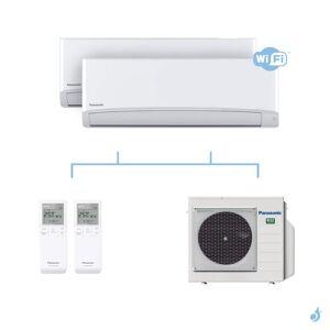 PANASONIC climatisation bi split mural Ultra Compact TZ gaz R32 WiFi CS-MTZ16WKE + CS-TZ50WKEW + CU-3Z52TBE 5,2kW A+++