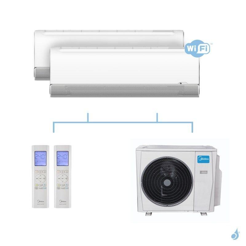MIDEA climatisation bi split murale Breezeless gaz R32 WiFi MSFAAU-09HRFN8 + MSFAAU-12HRFN8 + M40B-36HFN8-Q 10,55kW A+