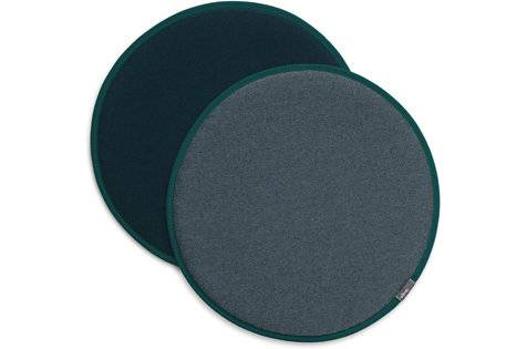 Vitra Coussin d'assise Seat Dots Update - nero/bleu glace - pétrole/nero