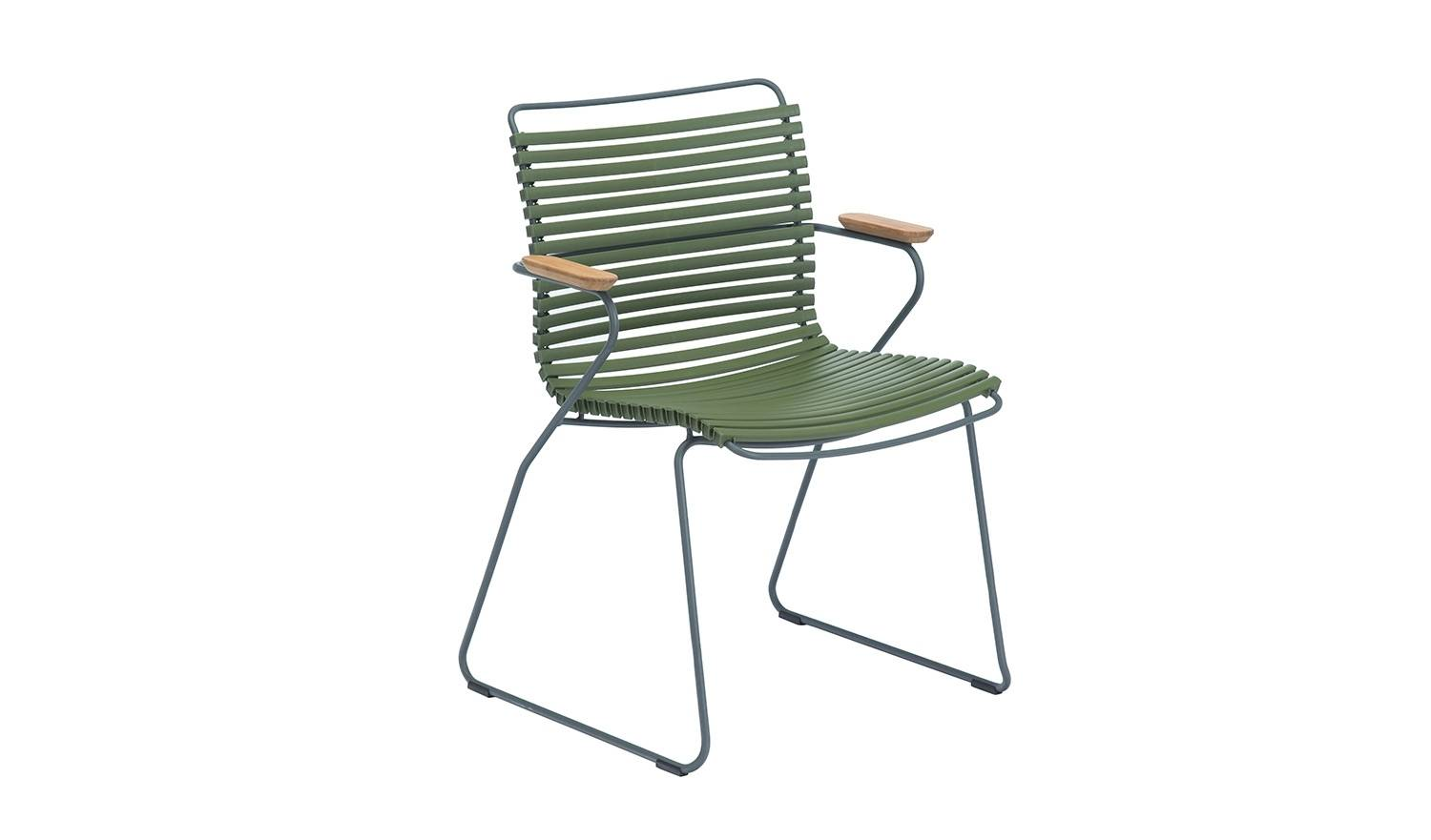 Houe Chaise à accoudoirs Click Dining - vert olive