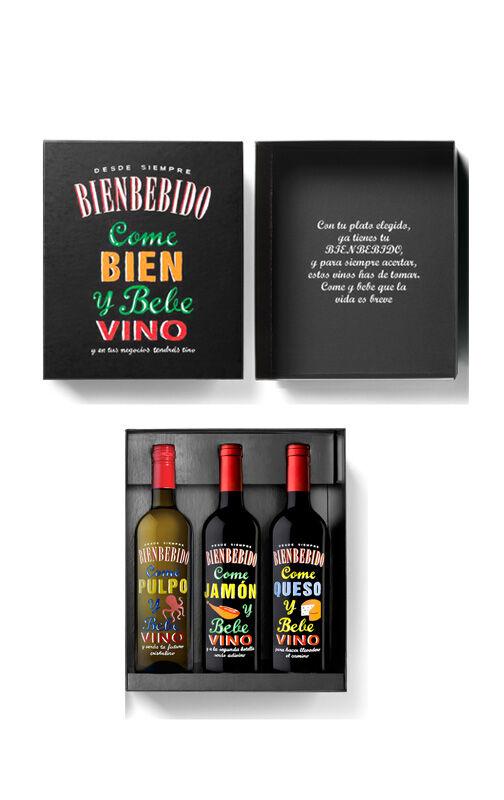 Democratic wines Bienbebidos con estuche (x3)