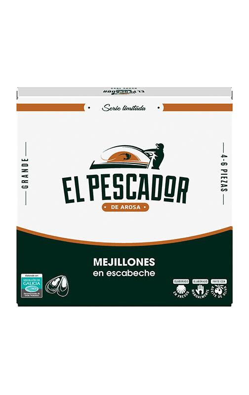 Portomar Rías de Moules Galiciennes a la sauce au vinaigre 4/6 pièces El Pescador
