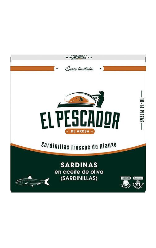 Portomar Sardines Rianxo fraîches à l'huile d'olive El Pescador 10-14 pièces