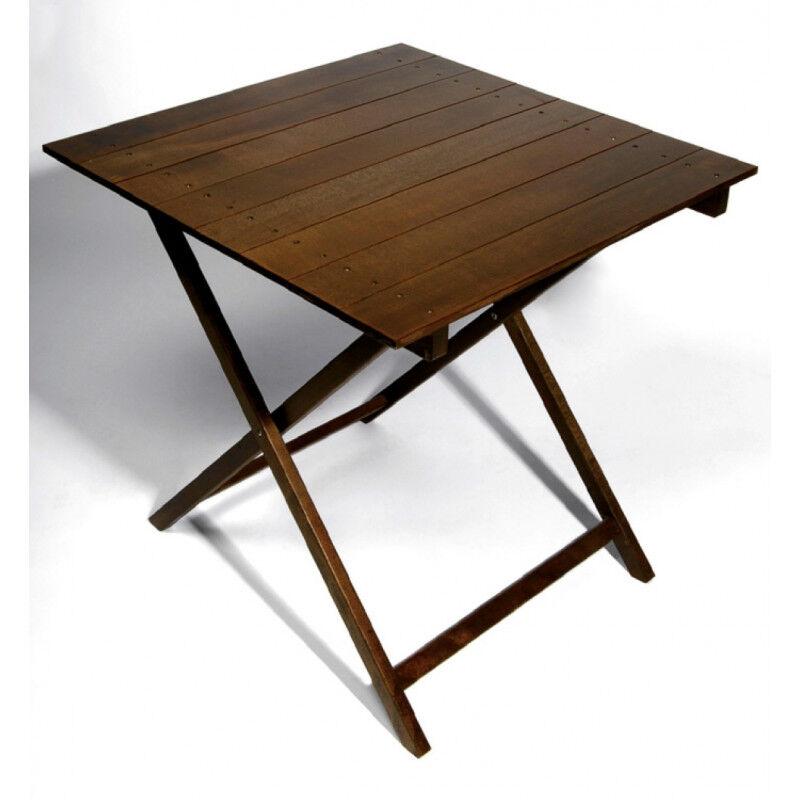 TABLE BOIS CARRÉ PLIANTE HT75