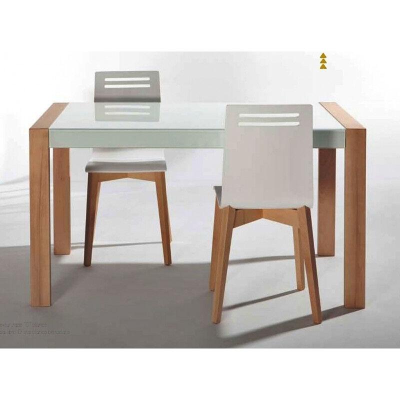 TABLE DE CUISINE EN VERRE EXTENSIBLE NOVA