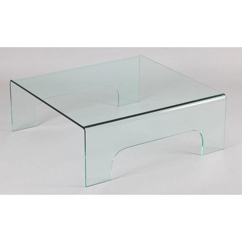 TABLE BASSE EN VERRE CARREE 1507