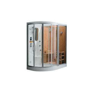 SHOWER DESIGN Cabine de douche intégrale d'angle HAUMEA fonction Hammam et Sauna - l157xP110xH215cm- Angle droit - Publicité