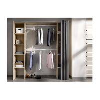 Dressing extensible DORIAN avec rideau - L110/180 cm - Coloris : Chêne et gris <br /><b>199.99 EUR</b> Vente-unique.com