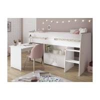 Lit combiné MARCELLE - Avec Bureau et rangements - 90 x 200 cm - Blanc <br /><b>269.99 EUR</b> Vente-unique.com