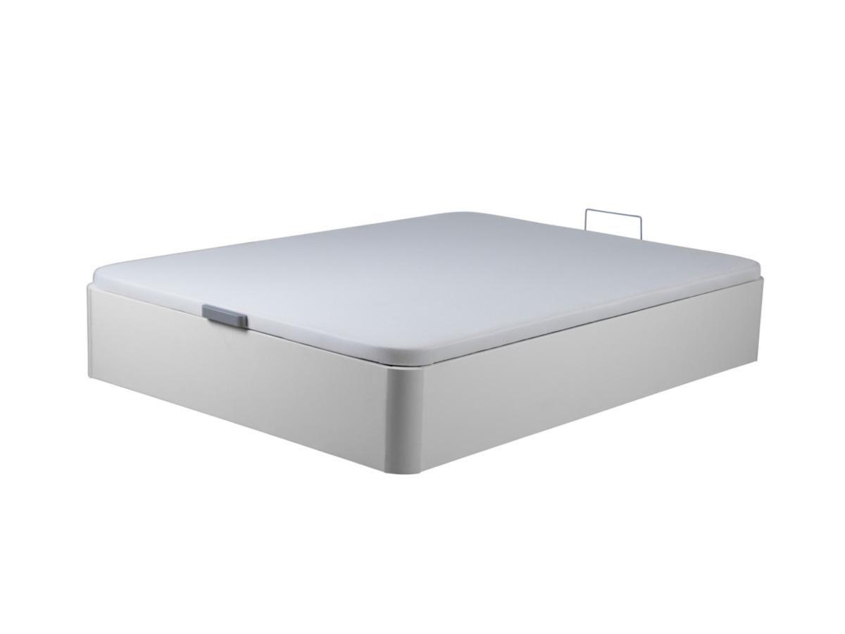 Vente-unique.com Sommier coffre ONIRY en simili de DREAMEA Play - 160 x 200 cm - Blanc mat