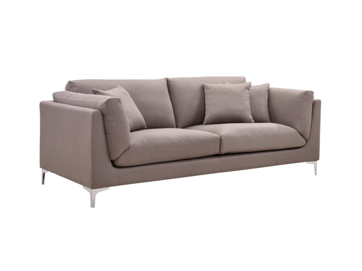 Canapé 3 places en tissu FLAKE - Taupe