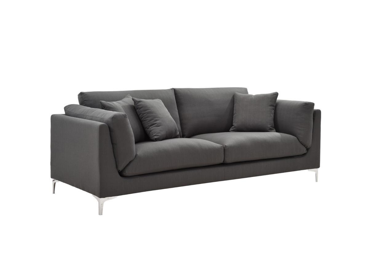 Canapé 3 places en tissu FLAKE - Anthracite
