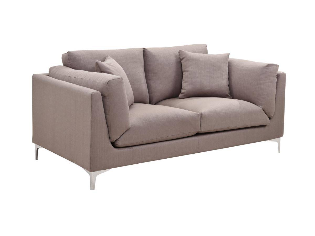 Canapé 2 places en tissu FLAKE - Taupe