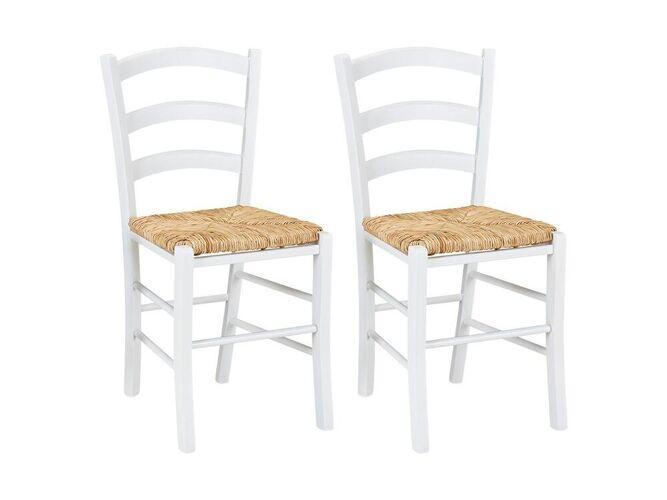 Lot de 2 chaises PAYSANNE - Hêtr...