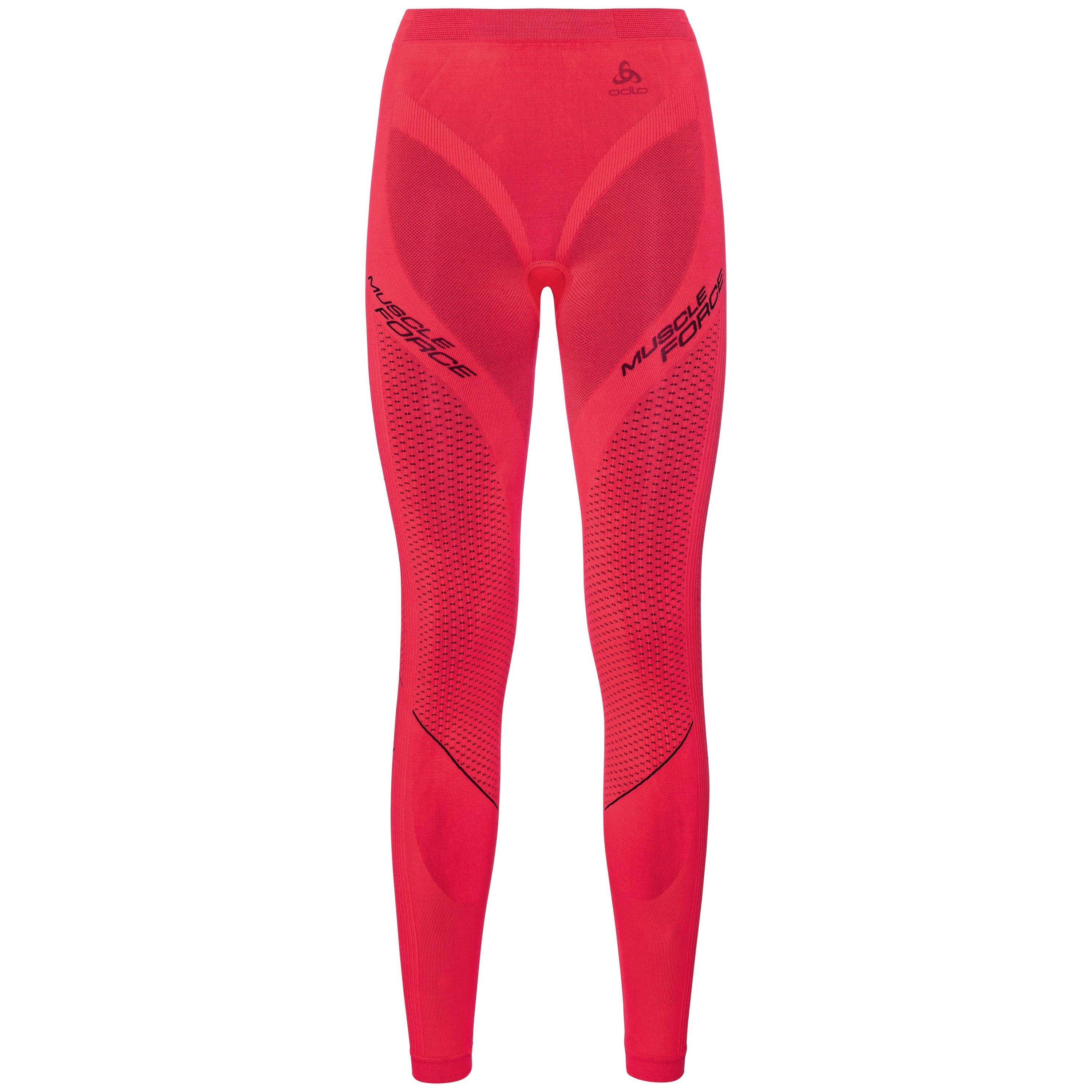 Odlo SVS Bas collant Performance MUSCLE FORCE RUNNING Warm diva pink - odyssey gray taille: XS
