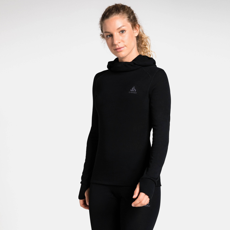 Odlo Haut technique à cagoule ACTIVE WARM pour femme black taille: XL