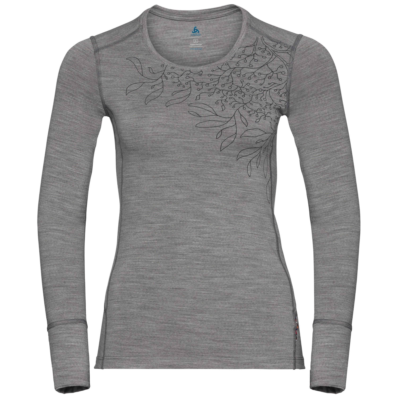 Odlo HAUT BL ALLIANCE grey melange - branches print FW18 taille: XS