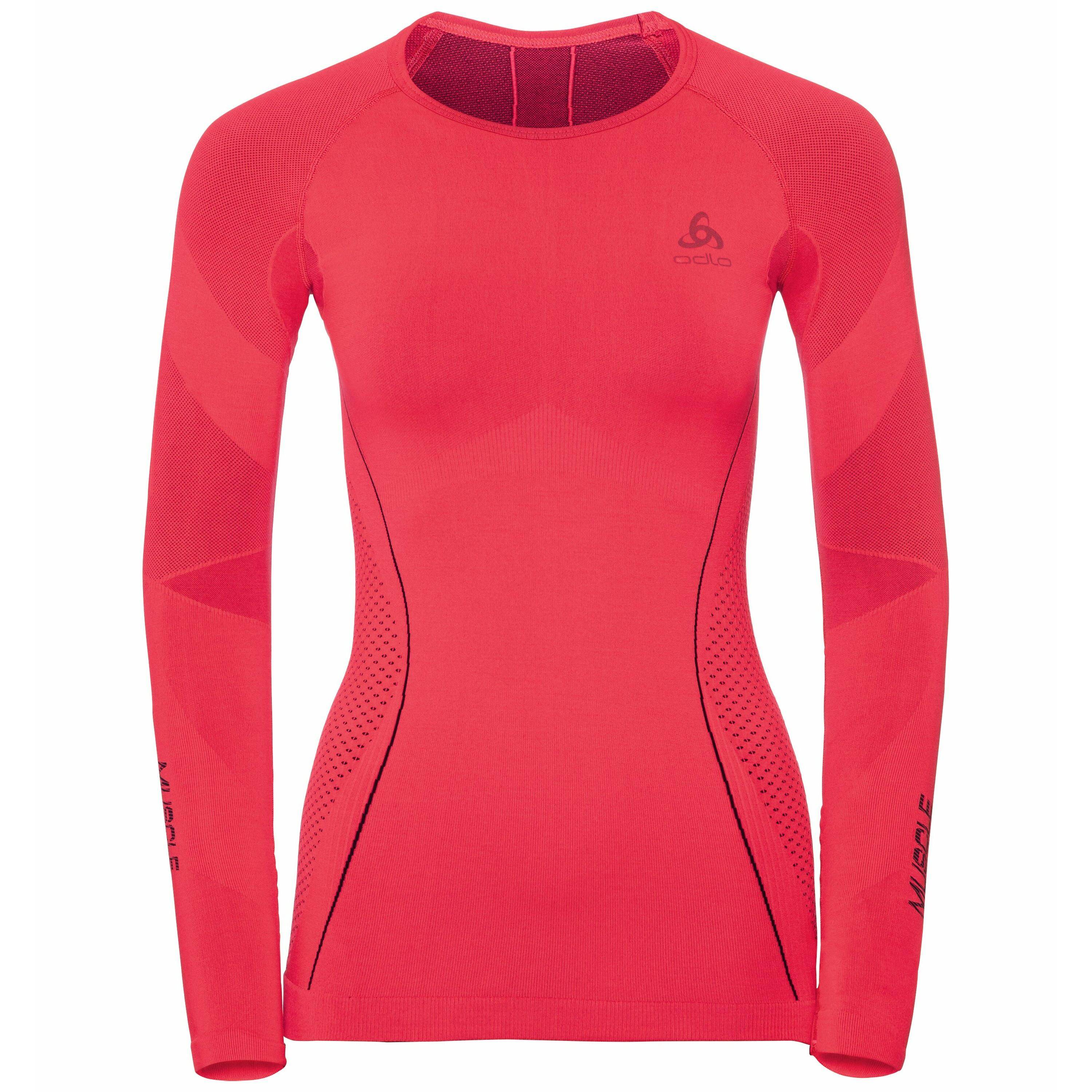 Odlo SVS top col ras du cou manches longues Performance MUSCLE FORCE RUNNING Warm diva pink - odyssey gray taille: XS