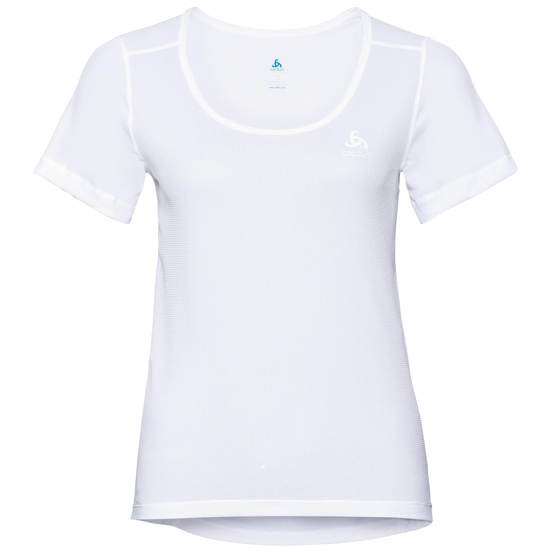 Odlo SVS HAUT col ras du cou et manches courtes ACTIVE Cubic LIGHT white - snow white taille: S