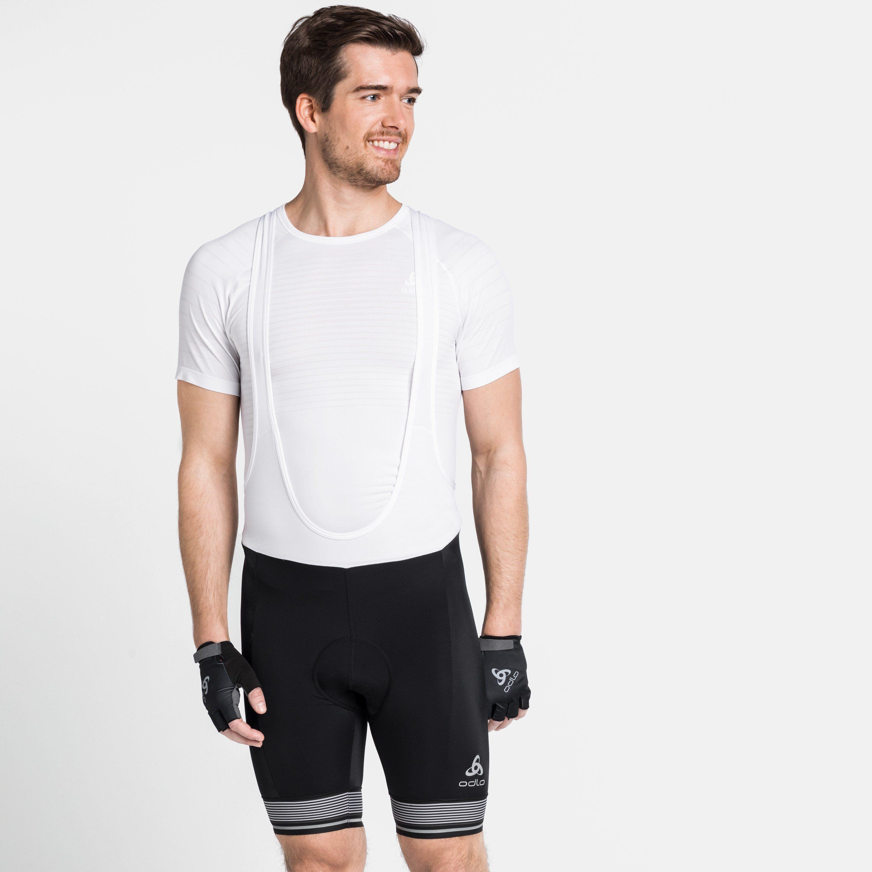 Odlo Collant Cycle court à bretelles ZEROWEIGHT pour homme black - white taille: S