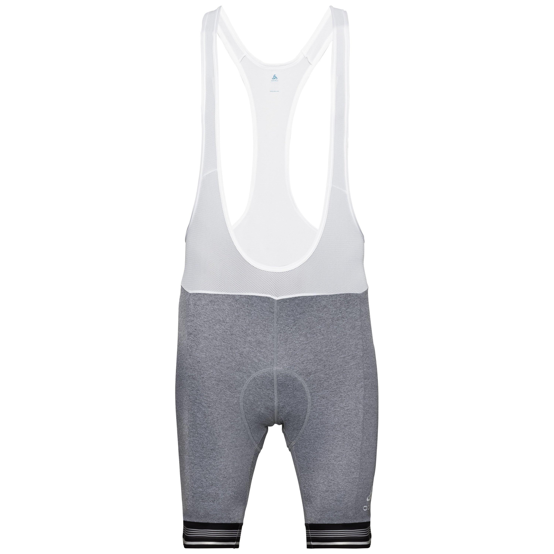 Odlo Collant Cycle court à bretelles ZEROWEIGHT pour homme black melange - white taille: S