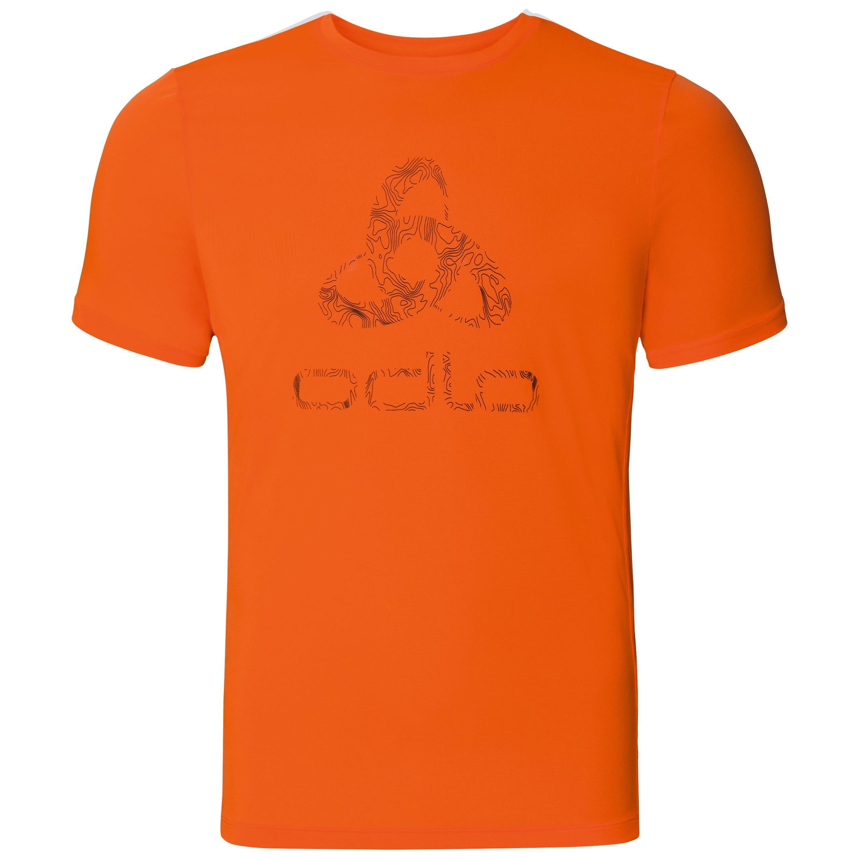 Odlo Haut BL col ras du cou manches courtes CORE Light PRINT orange clown fish - placed print FW18 taille: M