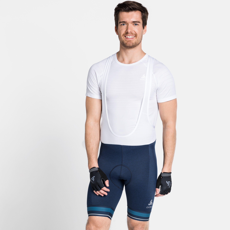 Odlo Collant Cycle court à bretelles ZEROWEIGHT pour homme estate blue melange taille: L