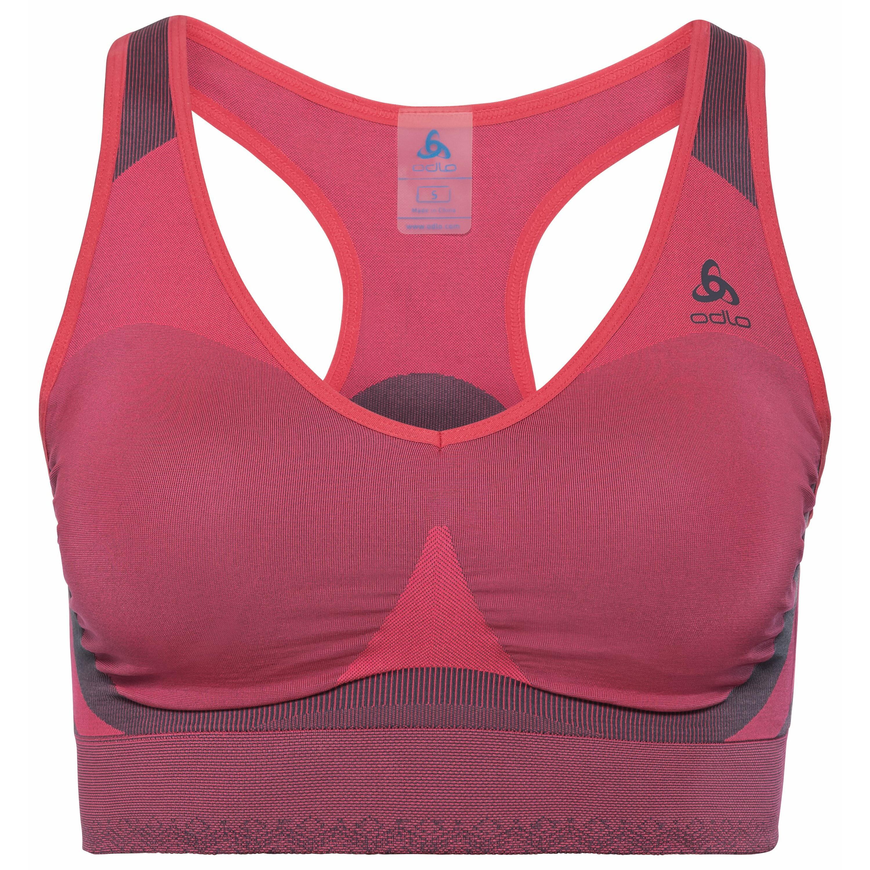 Odlo Brassière de sport SEAMLESS HIGH diva pink - odyssey gray taille: L