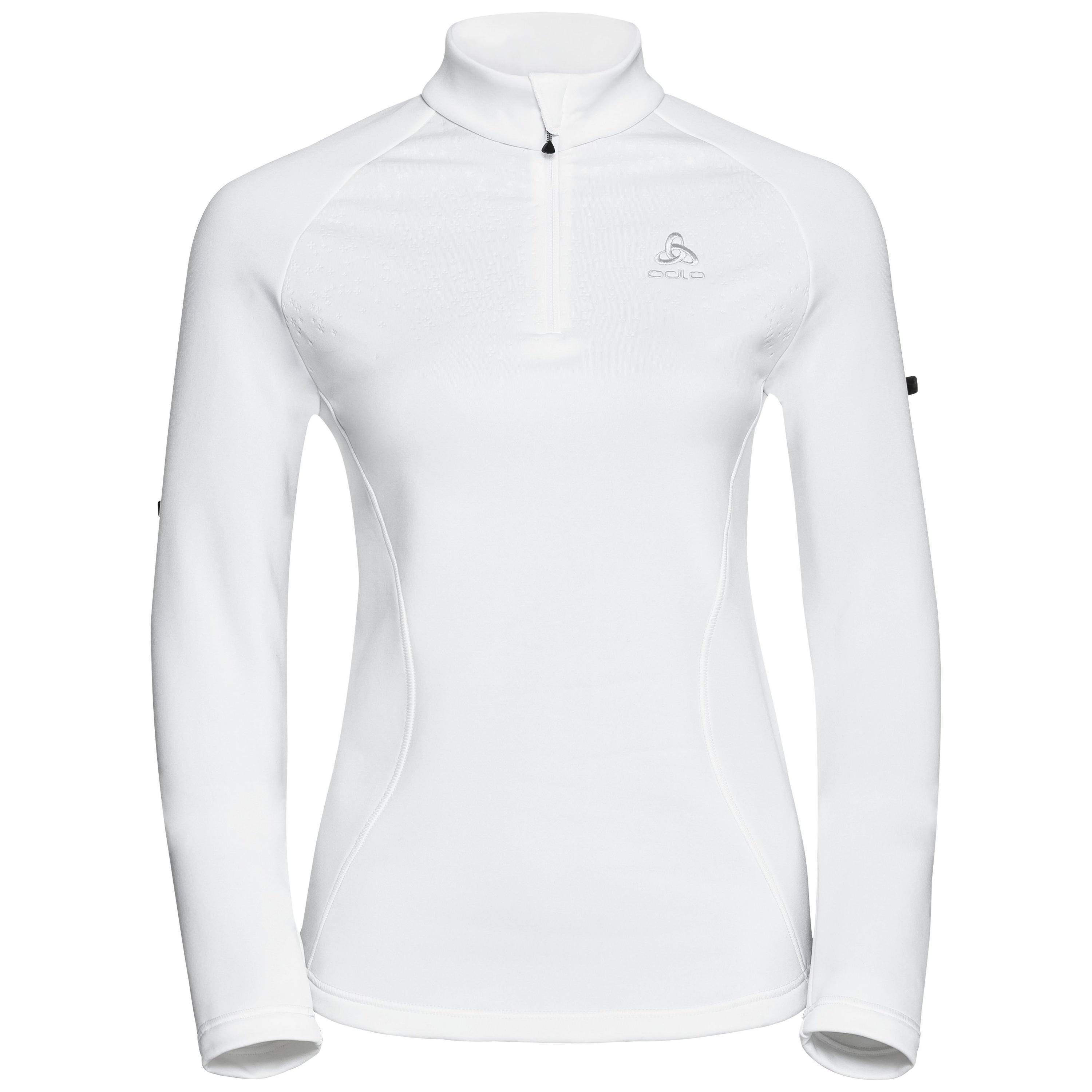Odlo Pull couche intermédiaire 1/2 zip GLADE white with print FW17 taille: XL