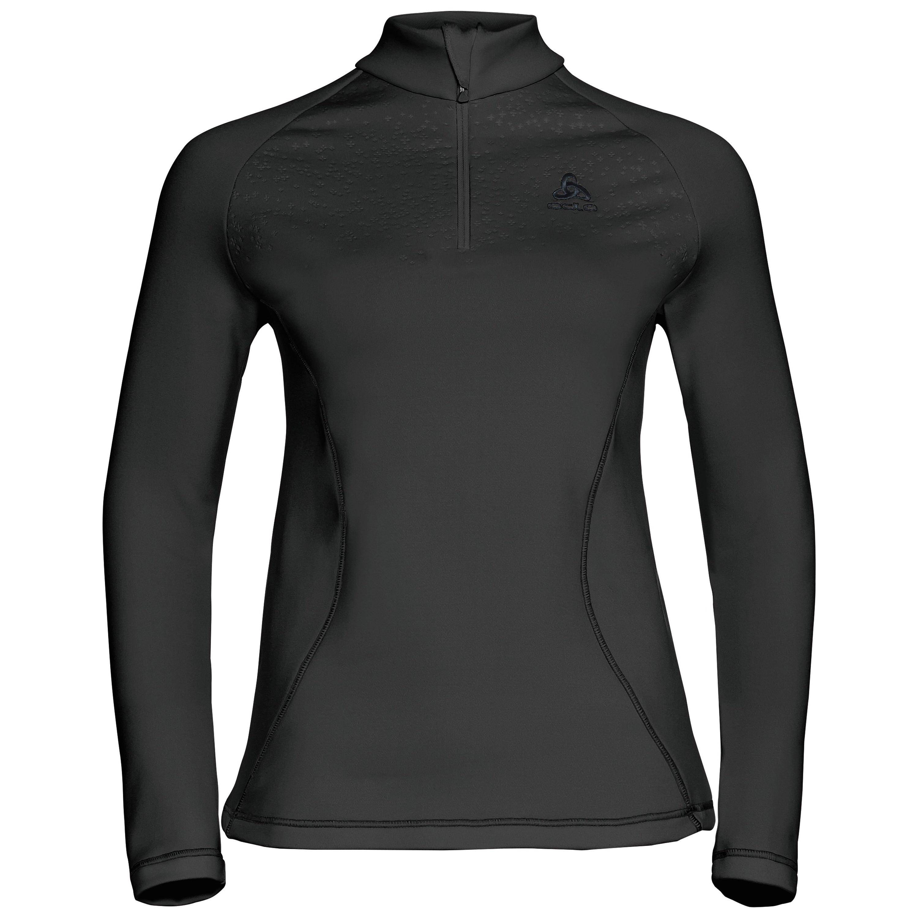 Odlo Pull couche intermédiaire 1/2 zip GLADE black with print FW17 taille: XL