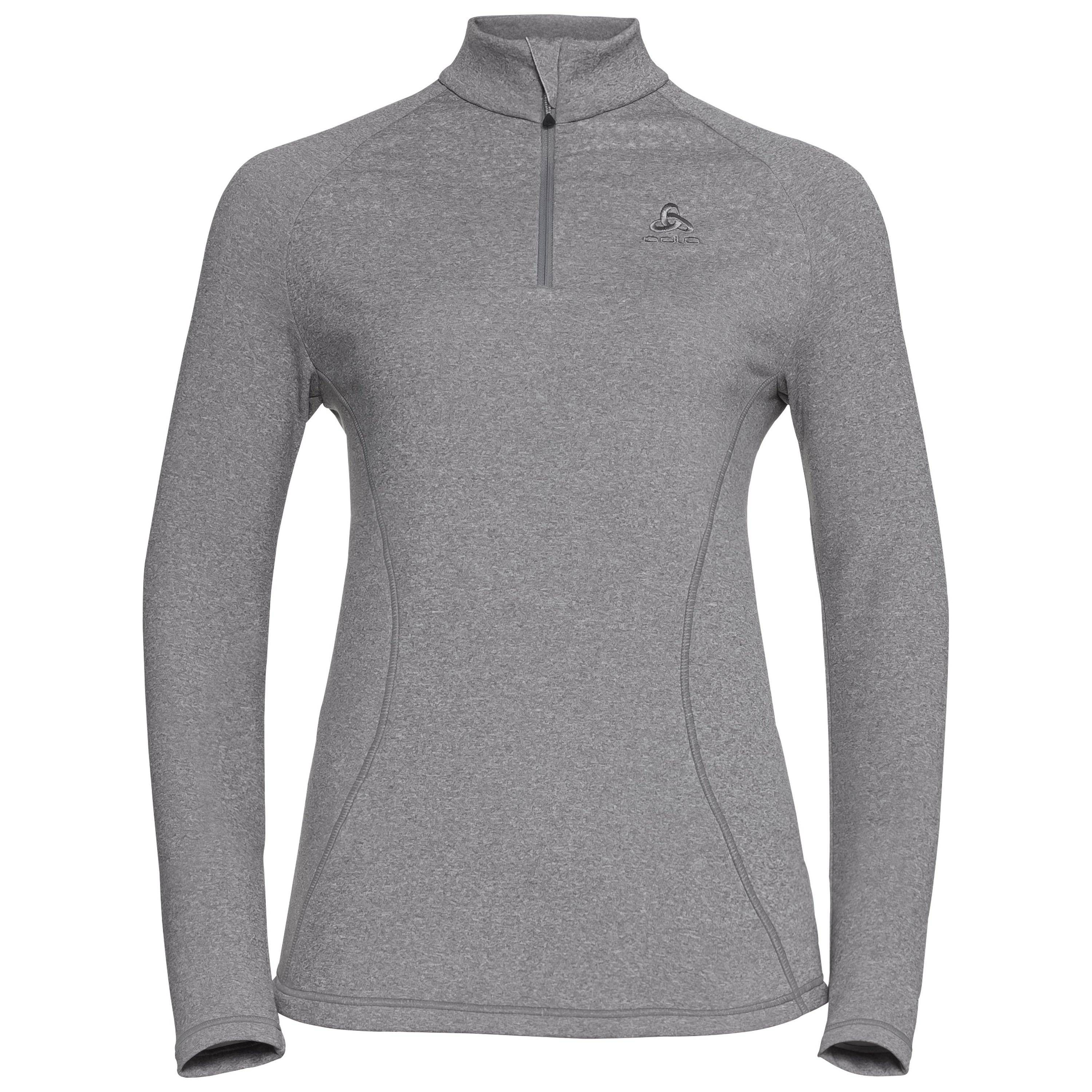 Odlo Pull couche intermédiaire 1/2 zip GLADE grey melange with print FW17 taille: XL