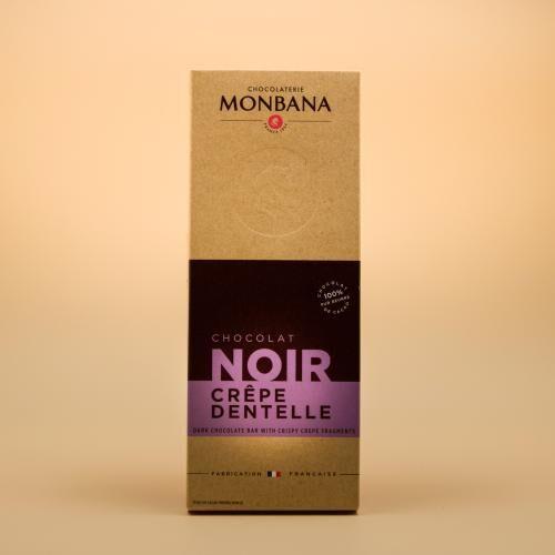 Tablette chocolat noir crêpe 100 Gr   Monbana