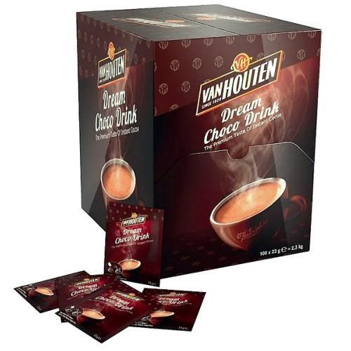 Chocolat lacté en poudre Dosette - Individuelle Van Houten - 100 doses