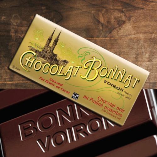 Bonnat Chocolat noir praliné noisettes   BONNAT