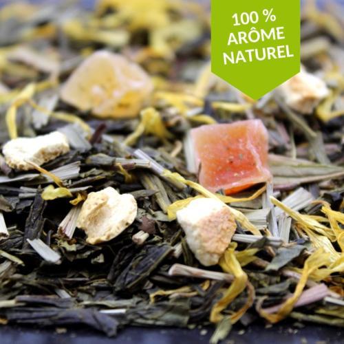 La Fabrikathé Thé vert glacé citron pêche - FBKT : Sachet 100 Gr