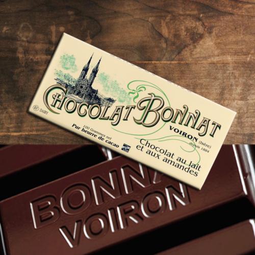 Bonnat Chocolat au lait et aux amandes   BONNAT