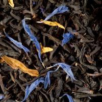 Graindecafe.com Thé noir aromatisé Jardin bleu - DAMMANN - Sachet de 100 Gr